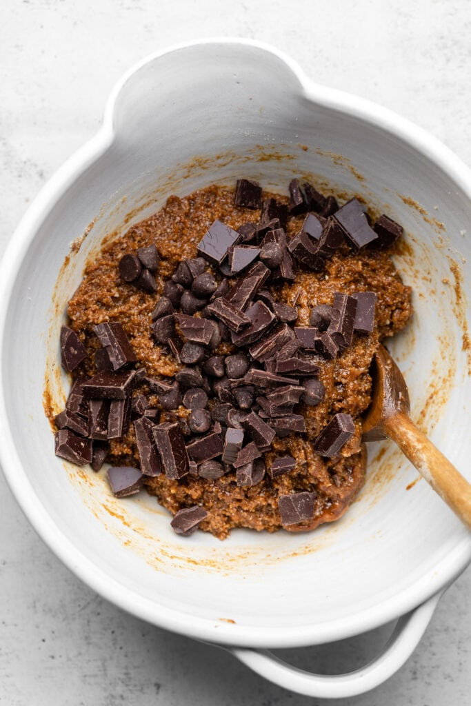 chocolate in cookie dough