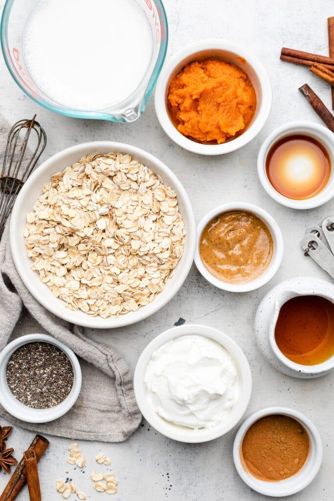 overnight oat ingredients