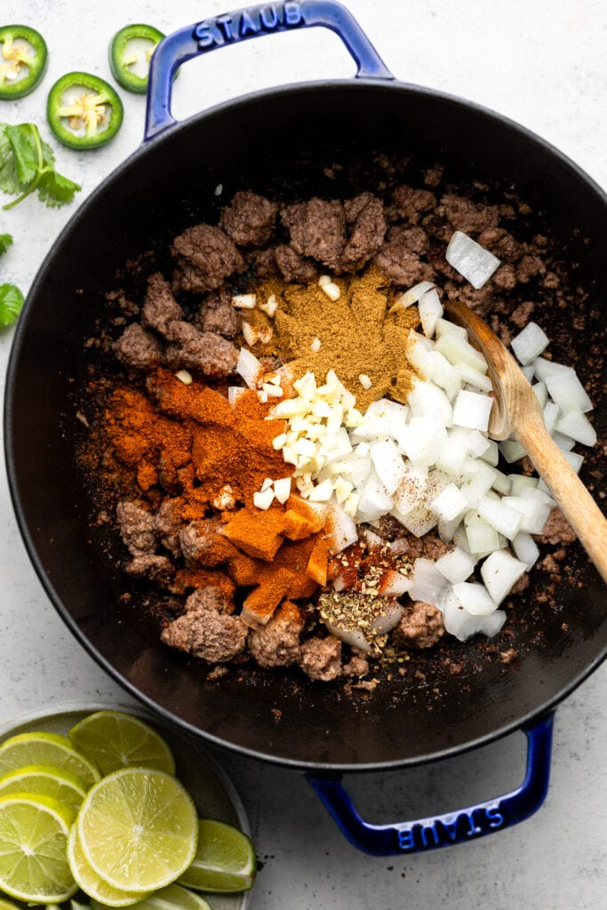 ground beef with onion and spices