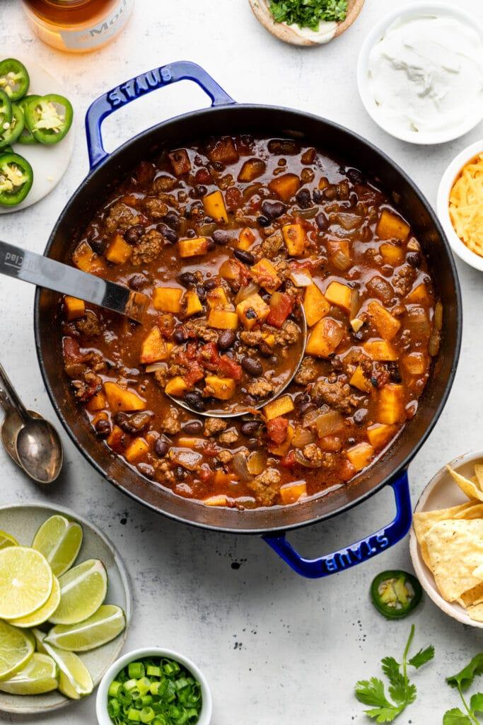 chili in pot