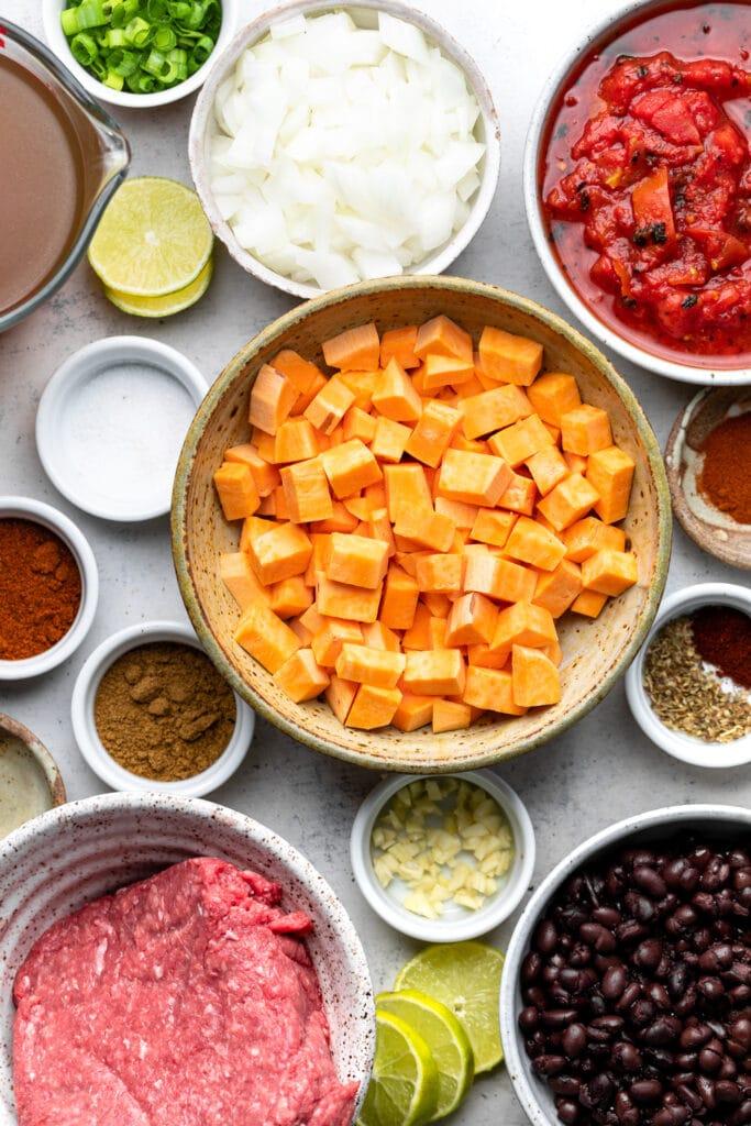 sweet potato black bean chili ingredients