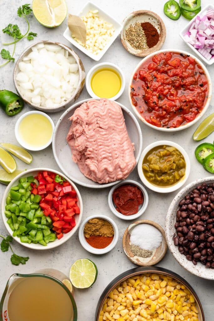 healthy turkey taco soup ingredients